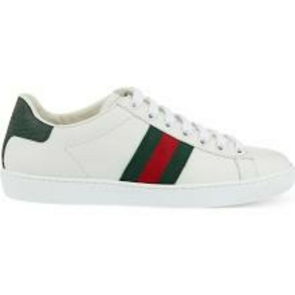 49ba85cb2 Gucci Shoes | New Ace Leather And Crocodile Trainers | Poshmark